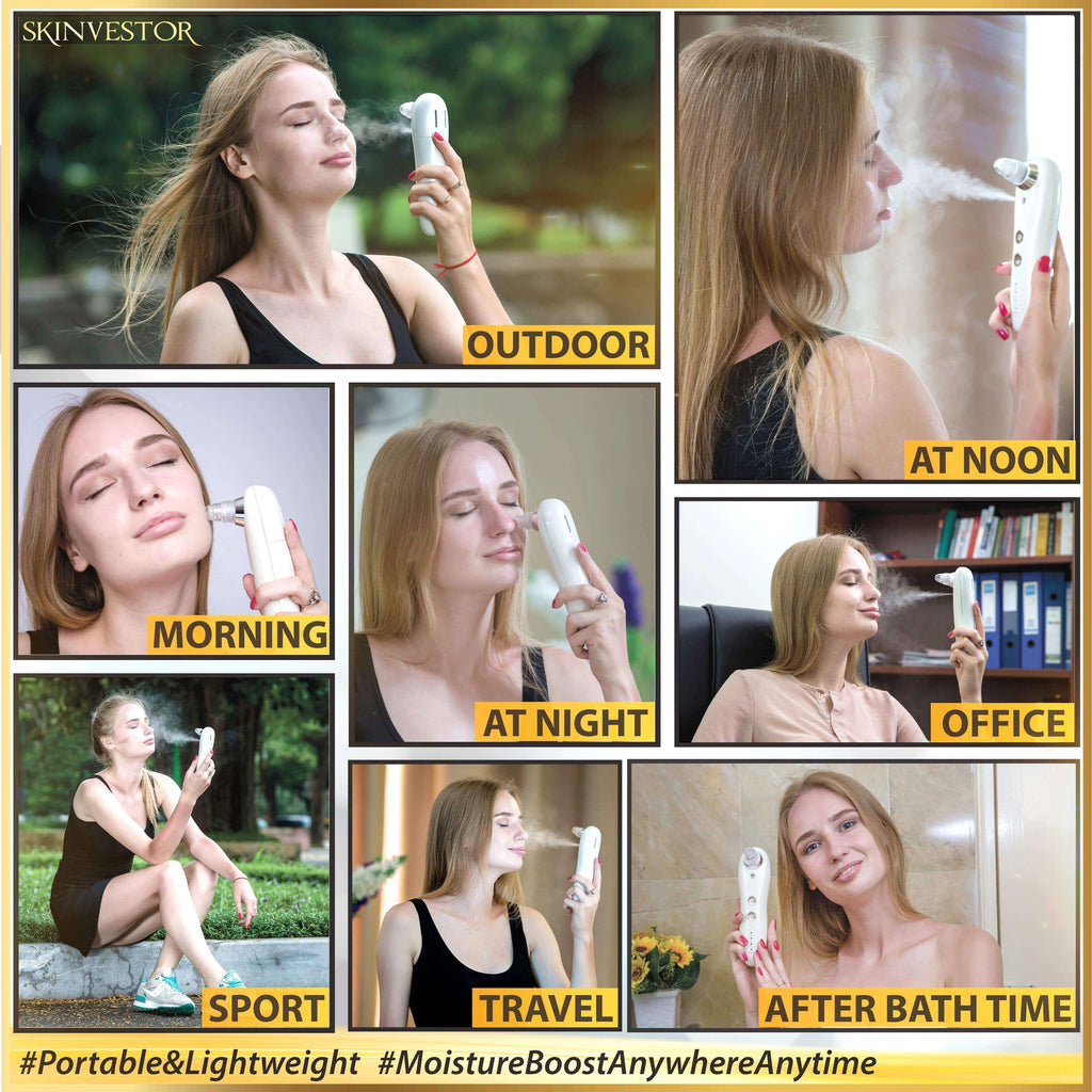 [2-IN-1] Professional Pore Vacuum & Skin Soothing Humidifier System  (Version Used In Premium Japanese Spas)