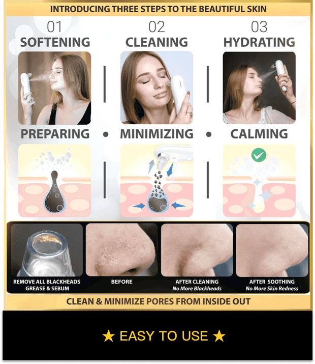 [2-IN-1] Professional Pore Vacuum & Skin Soothing Humidifier System.
