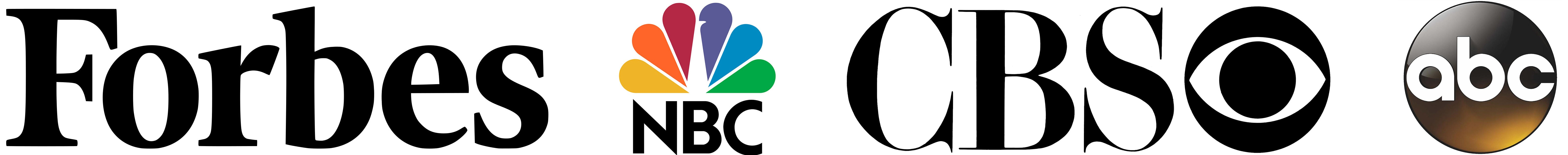 Forbes, NBC, CBS, and ABC