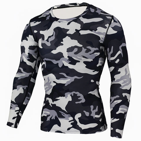 Camo Military Bodybuilding Tights & Long Sleeve Crossfit Compression Shirt