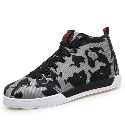 Breathable High Top Camo Casual Shoes