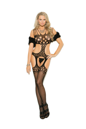 Bodystocking with Sexy Cut-Out Detail Lingerie