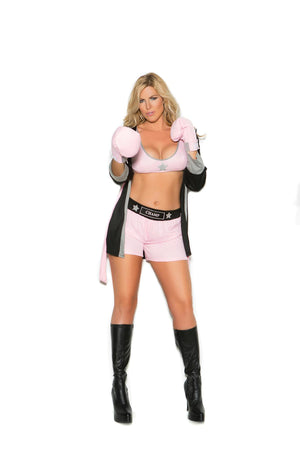 Prizefighter - 4 pc. costume includes top, shorts, hooded robe and gloves.