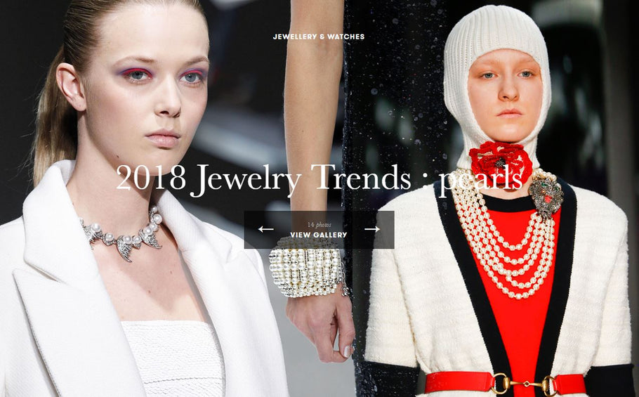 Pearl are the big thing this year in jewelry