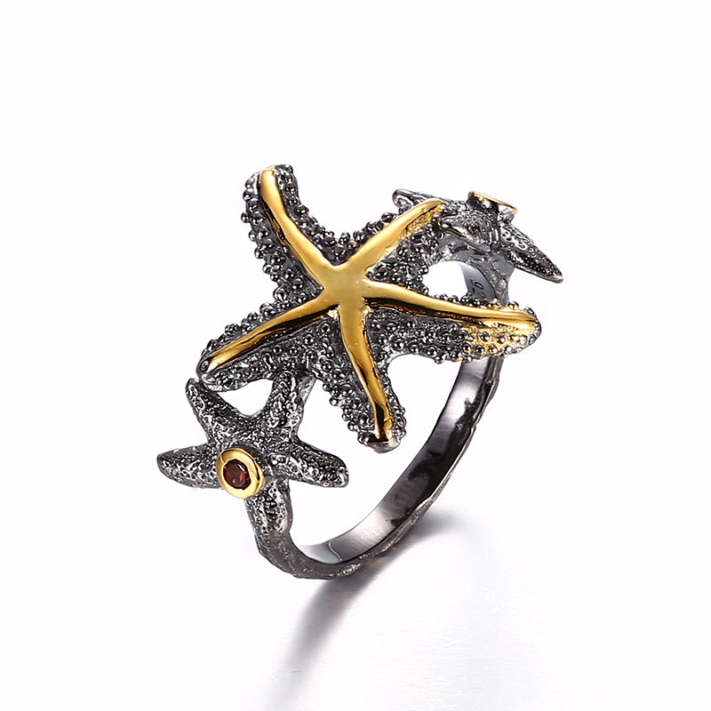 Starfish Design Latest Unique Designs Fashion 925 Sterling Silver Ring Jewelry