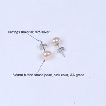 Load image into Gallery viewer, Freshwater pearl set bracelet-925 silver earring-necklace in gift box