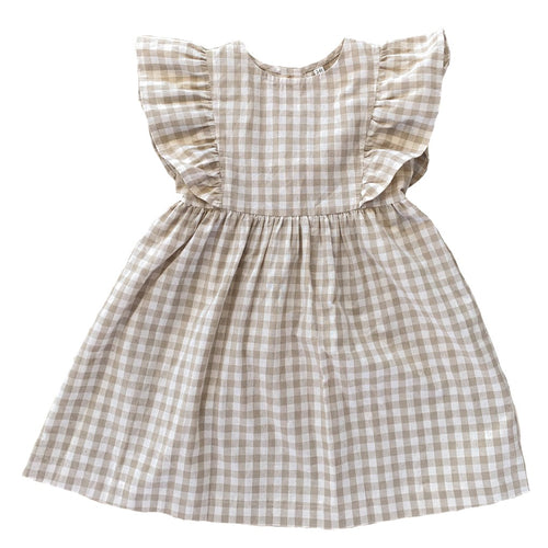Arabella Dress | Fawn Check. Ruffets and Co Australian stockist. Afterpay