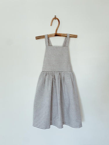 Miss Izzy Pinafore Dress | Blue Stripe. Blue Daisy Australian stockist. Afterpay