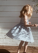 Load image into Gallery viewer, Lulu Dress | Dusty Blue Gingham. Blue Daisy Australian stockist. Afterpay