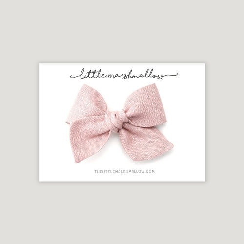 Pinwheel Bow | Dusty Rose