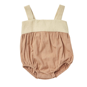 Faith Romper | Warm Taupe {LAST ONE Size 3-6m}