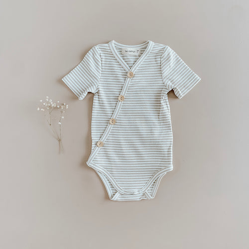 Ribbed Summer Bodysuit | Fawn Stripe {LAST ONE Size 00}