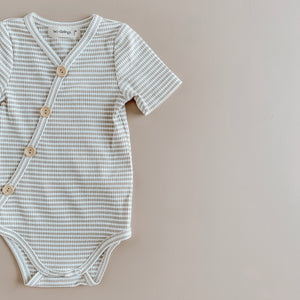 Ribbed Summer Bodysuit | Fawn Stripe