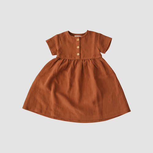Short Sleeve Dress | Rust {LAST ONE Size 6}