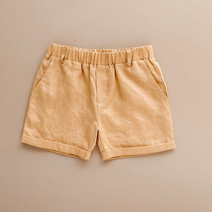 Chino Shorts | Golden Linen {LAST ONE Size 5}