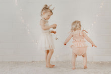 Load image into Gallery viewer, Shirred Tutu Romper | Dusty Pink. India and Grace. Australian stockist. Afterpay
