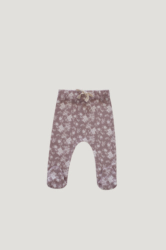 Footed Pant | Fawn Floral {LAST ONES Size 3-6m & 6-12m}