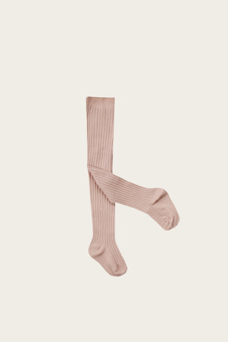 Rib Tights | Rose Dust