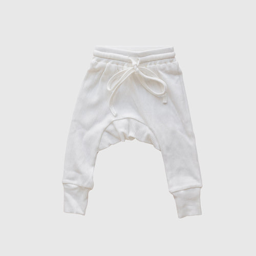 Ribbed Harem Pants | Milk