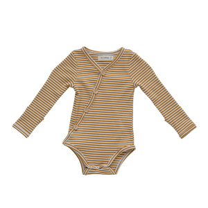 Ribbed Bodysuit | Mustard Stripe