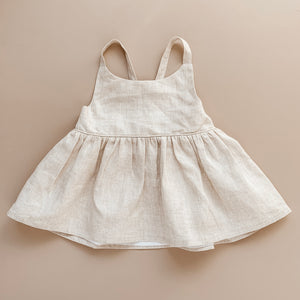 Peplum Top | Natural Linen