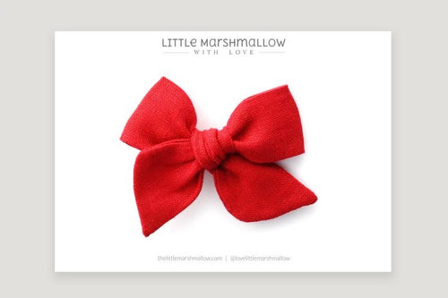 Mini Pinwheel Bow | Scarlet Red {LAST ONE Headband}