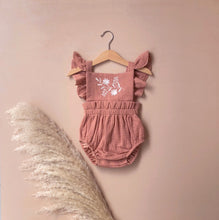 Load image into Gallery viewer, Embroidered Romper | Salmon {LAST ONE Size 1}