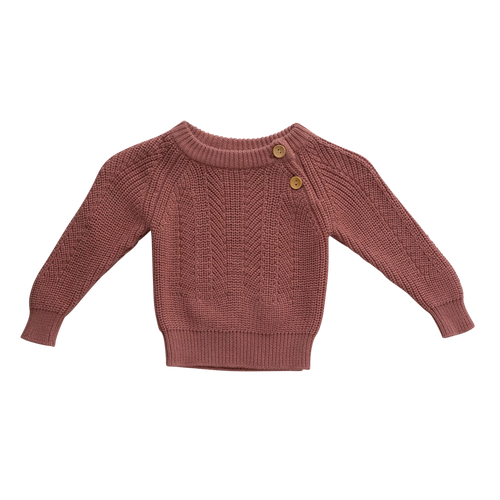 Knit Sweater | Terracotta {LAST ONE Size 4}