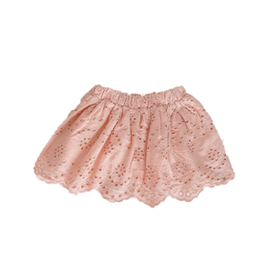 Broderie Anglaise Skirt | Vintage Pink. India + Grace Australian stockist. Afterpay