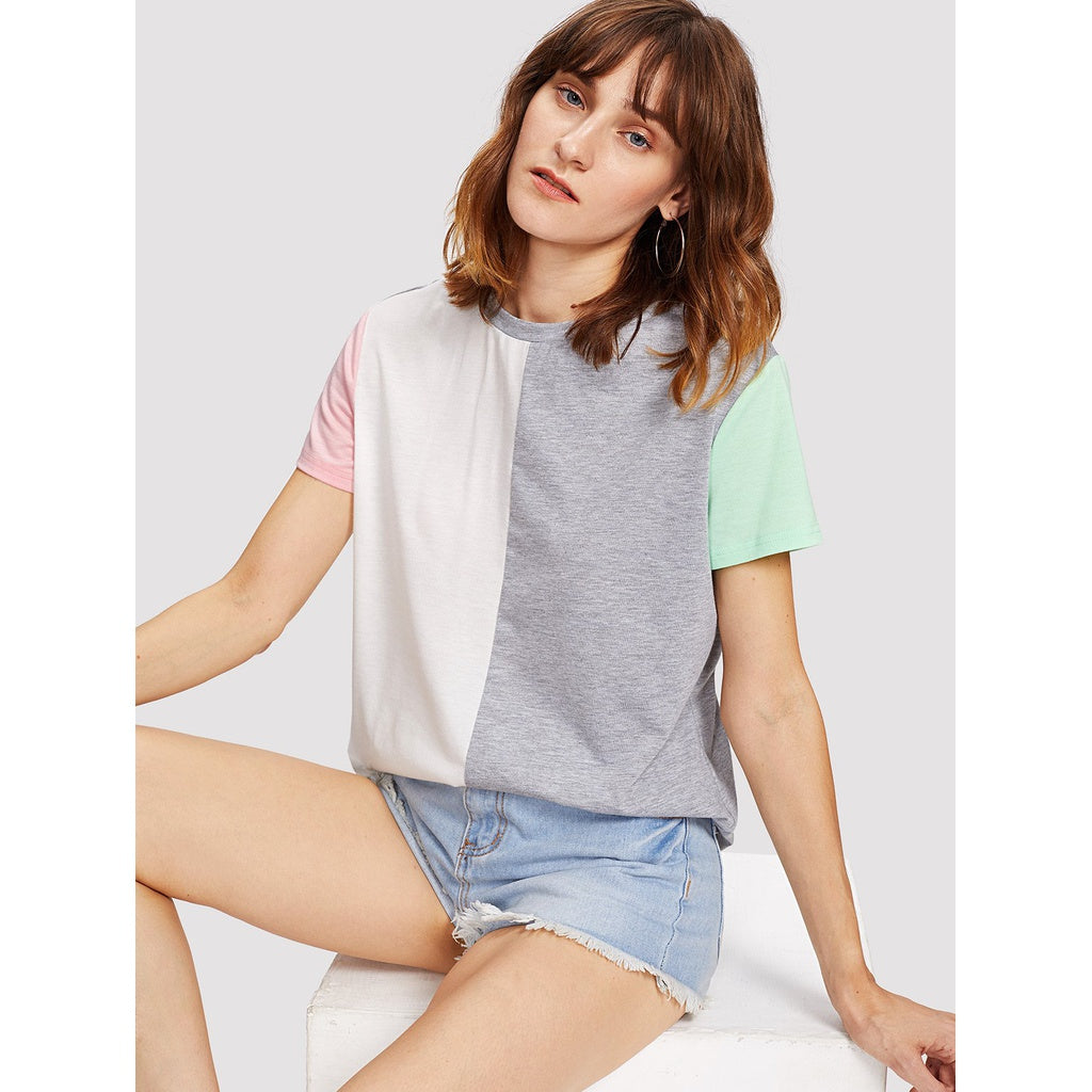 Cut and Sew Short Sleeve T-shirt