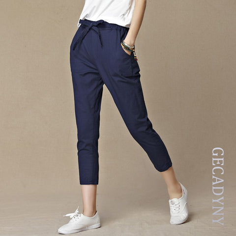 Women's Sinched Calf Bow Pants