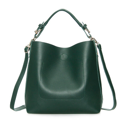 Leather Black Bucket Bag