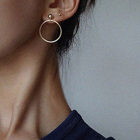 Simple Circle Minimalist Earrings