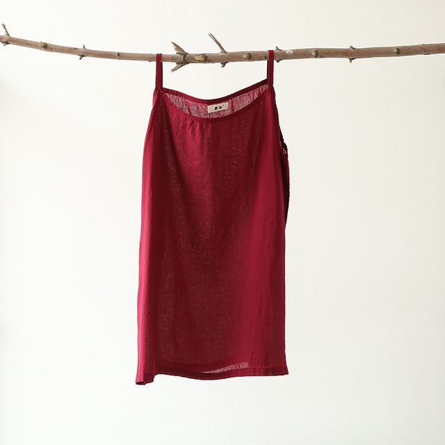 Solid Strap Casual Tank Top