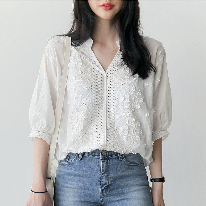 Women's Lacy Embroidered Top
