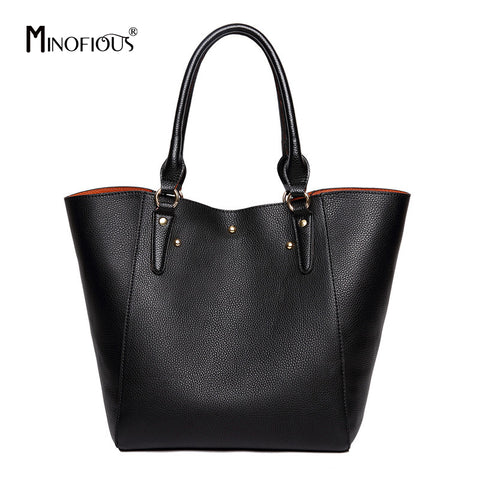 Minofious Leather Bucket Handbag