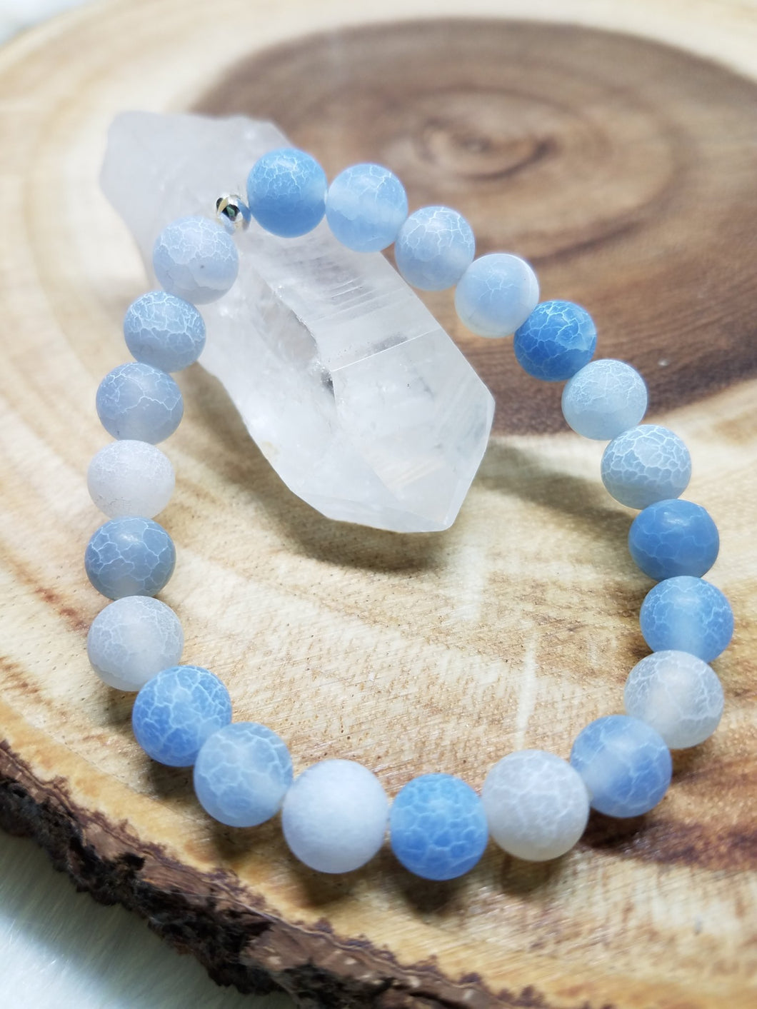 Frosted Blue Agate