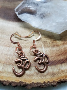 Ohm Copper Earrings