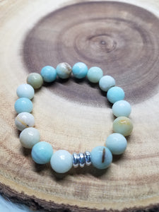 Faceted Amazonite Bracelet