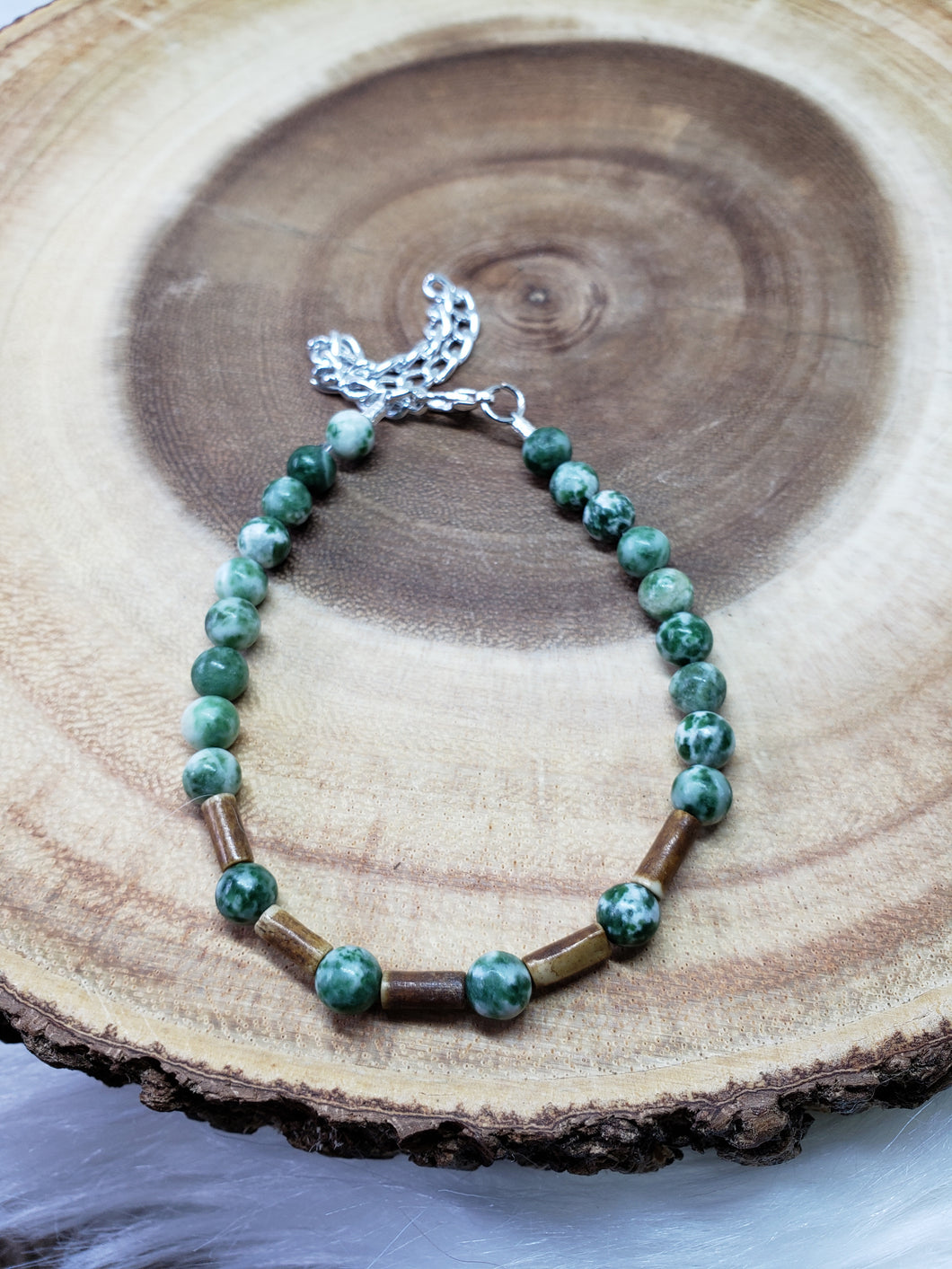 Tree Agate Anklet