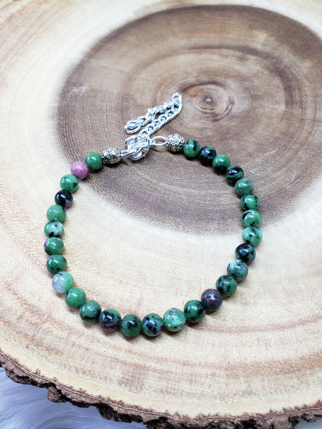 Ruby in Zoisite Anklet