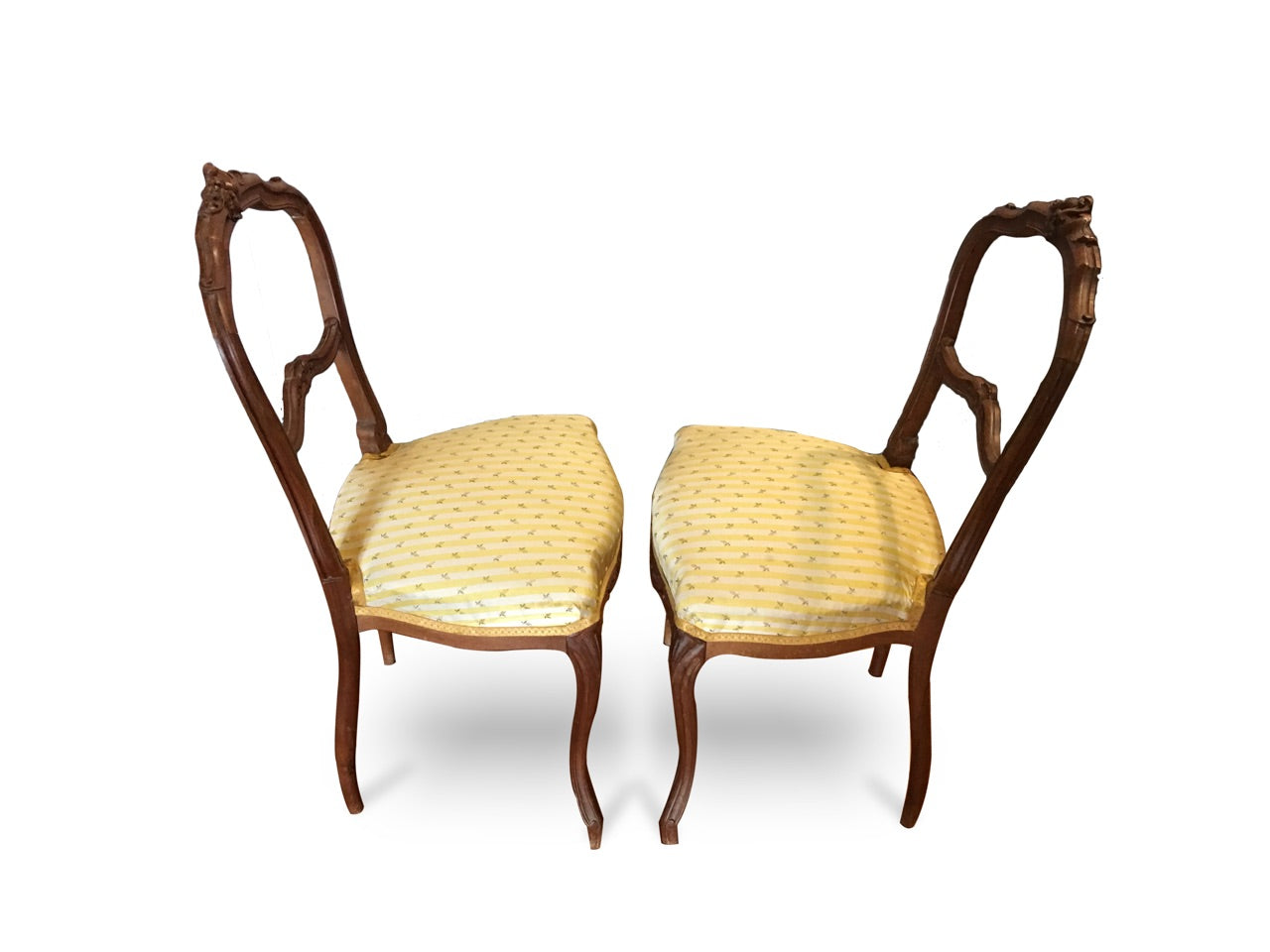 Pair of 19th Century French Chairs, carved oak wood - New York - French Antiques www.Decoparis.com