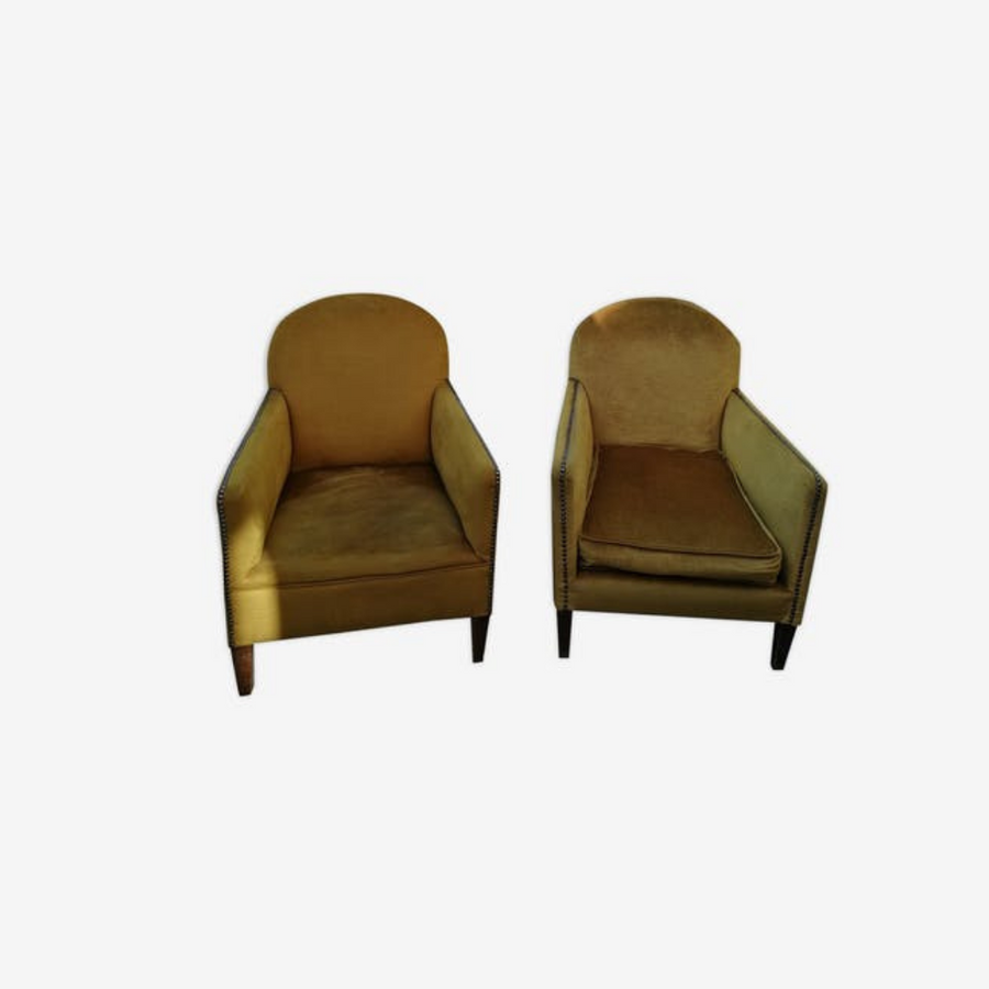 Pair of club-style armchairs 60/70s