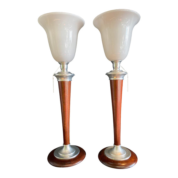 1930s Art Deco Mazda Lamps With Original Stamp - a Pair - French Antiques www.Decoparis.com