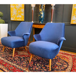 1950 Vintage Gio Ponti Midcentury Armchairs- A Pair - French Antiques www.Decoparis.com