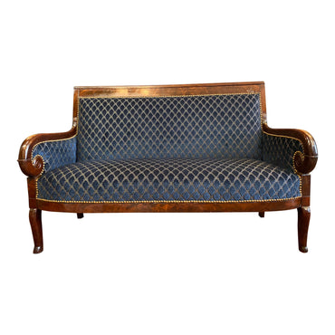 1830s French Empire Sofa Christian Lacroix upholstered - French Antiques www.Decoparis.com