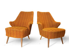 Pair of French Midcentury Lounge Chairs Gio Ponti Style - New York - French Antiques www.Decoparis.com
