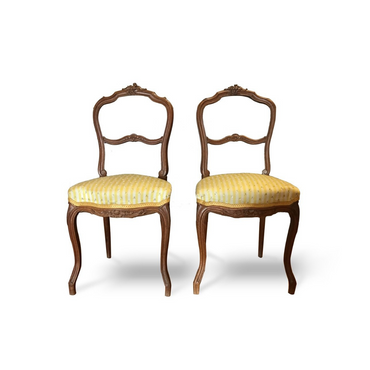 Pair of 19th Century French Chairs, carved oak wood - New York