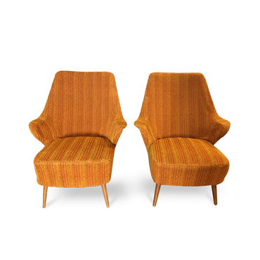 Pair of French Midcentury Lounge Chairs Gio Ponti Style - New York