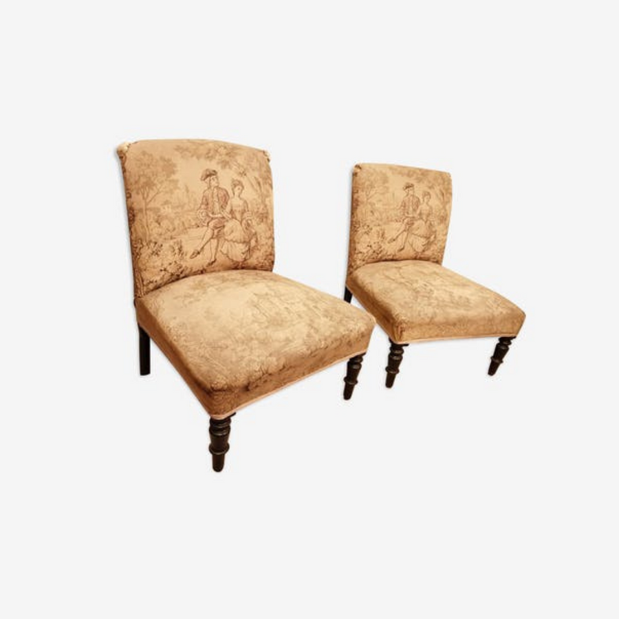 Pair of Napoleon III armchair